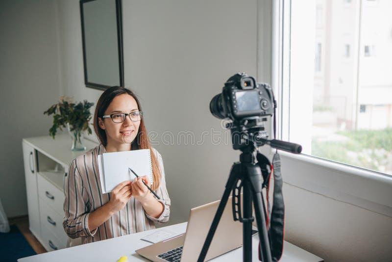 Video f?r flickabloggerrekord arkivbilder