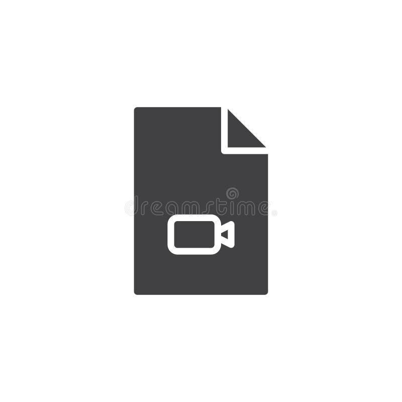 Video file format vector icon. Filled flat sign for mobile concept and web design. Multimedia folder simple solid icon. Symbol, logo illustration. Pixel royalty free illustration