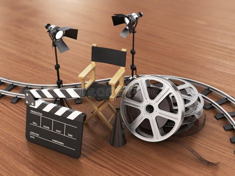 Video, film, bioskoopconcept royalty-vrije illustratie