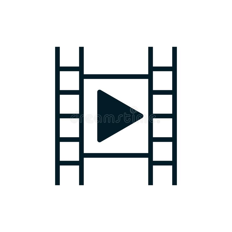 Video film play - Simple icon. Eps 10 royalty free illustration