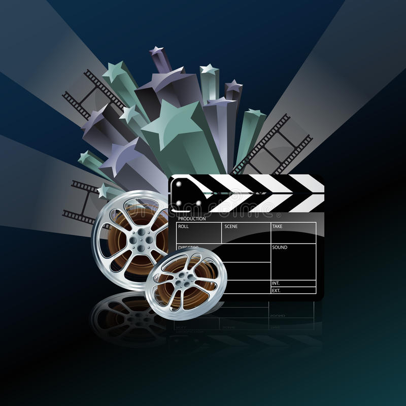 Download Video Film Tape And Cinema Clapper Royalty Free Stock Photography - Image: 22828537