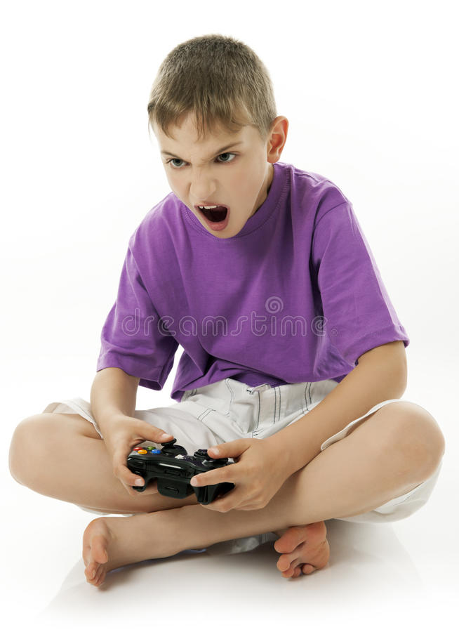 Download Video game stock photo. Image of anger, blond, joystick - 20201496