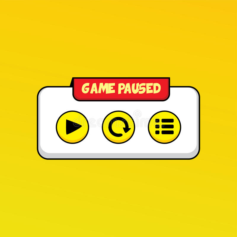 Video game asset menu icon button layer art. Illustration royalty free illustration