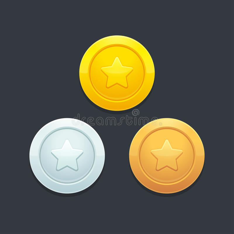 Video game coins royalty free illustration