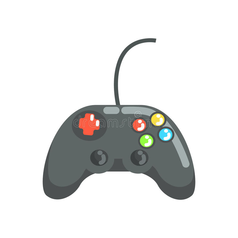 Free Video Game Controller, Gamepad. Colorful Cartoon Vector Illustration Royalty Free Stock Photo - 90992515
