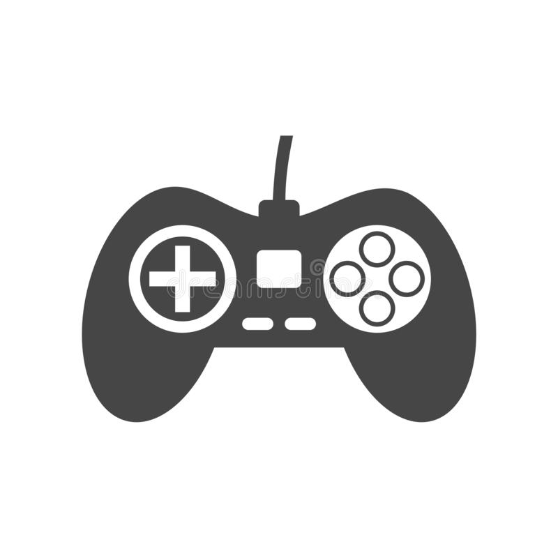 Video game controller or gamepad flat icon. On white background royalty free illustration