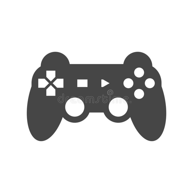 Video game controller or gamepad flat icon. On white background vector illustration