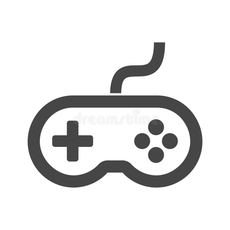 Video game controller or gamepad flat icon. On white background stock illustration