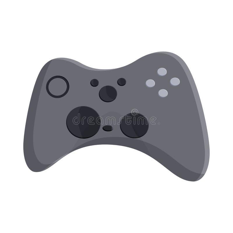 Video game controller icon, cartoon style vector illustration