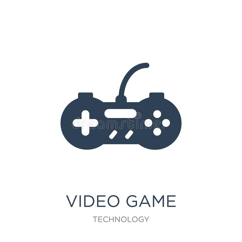 Video game controller icon in trendy design style. video game controller icon isolated on white background. video game controller. Vector icon simple and modern royalty free illustration