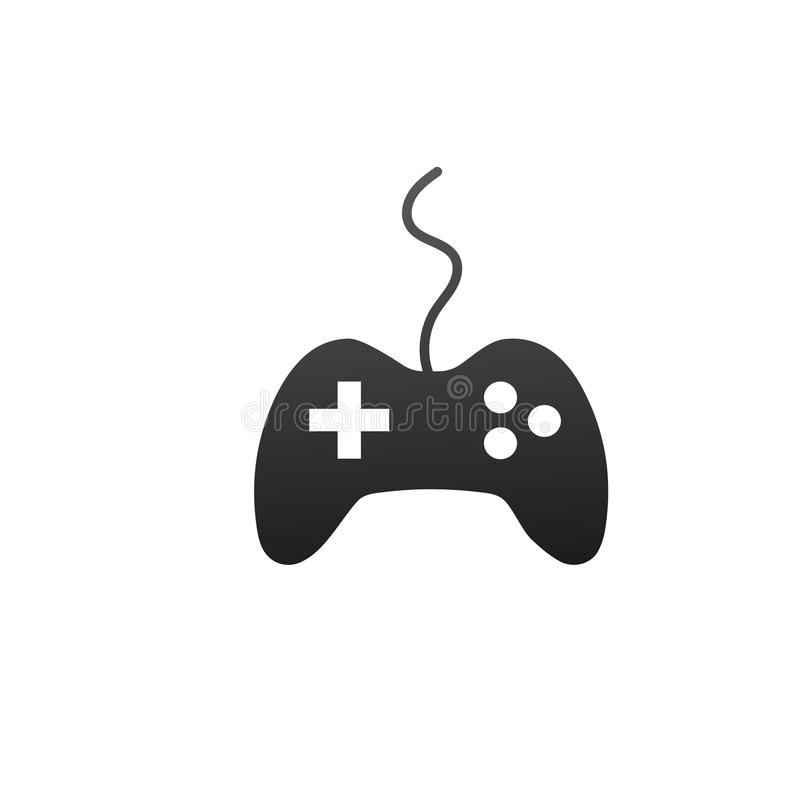 Video Game Controller Icon. Vector illustration isolated on white background royalty free illustration