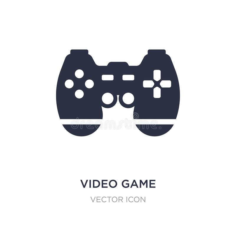 Video game controller icon on white background. Simple element illustration from Technology concept. Video game controller sign icon symbol design stock illustration