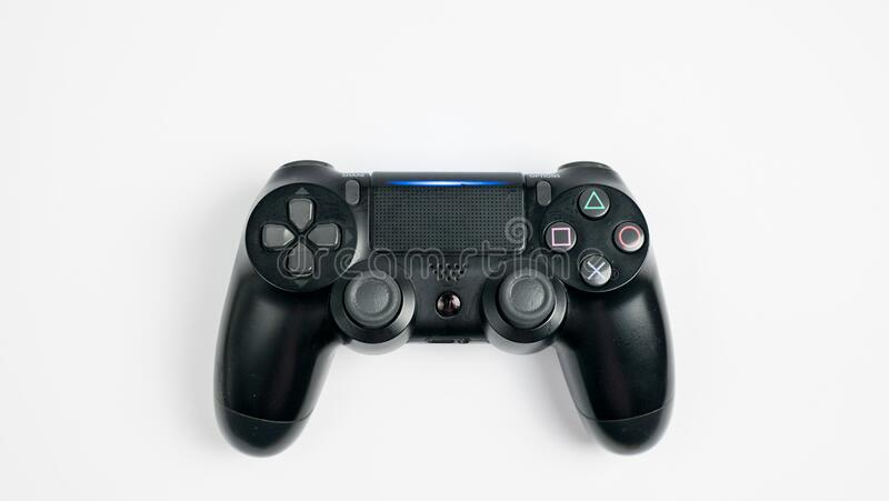 video game controller isolated on white background royalty free stock photo