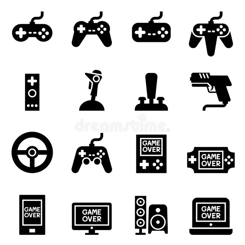 Video game Controller, Joystick Gamepad icon stock illustration