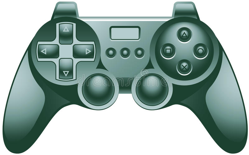 Video Game Controller Pad. Vector illustration of a video game controller vector illustration