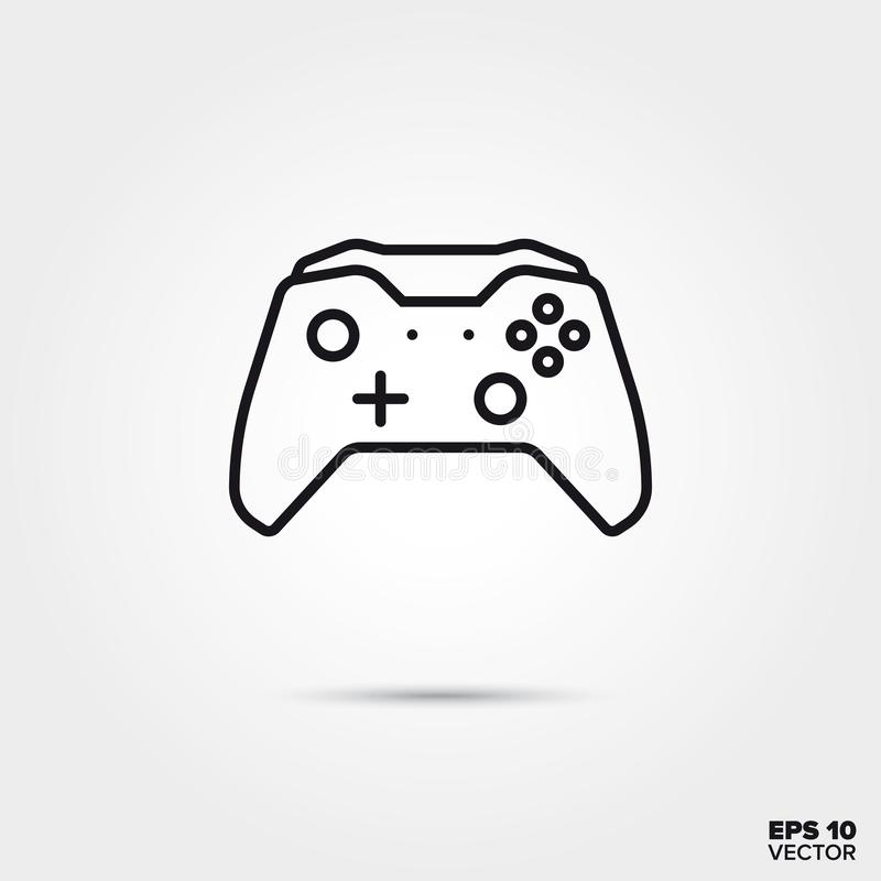 Video game controller vector line icon. Video game controller line icon vector illustration. Media and entertainment symbol royalty free illustration