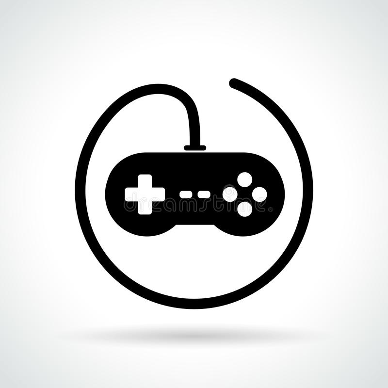 Video game icon on white background stock illustration