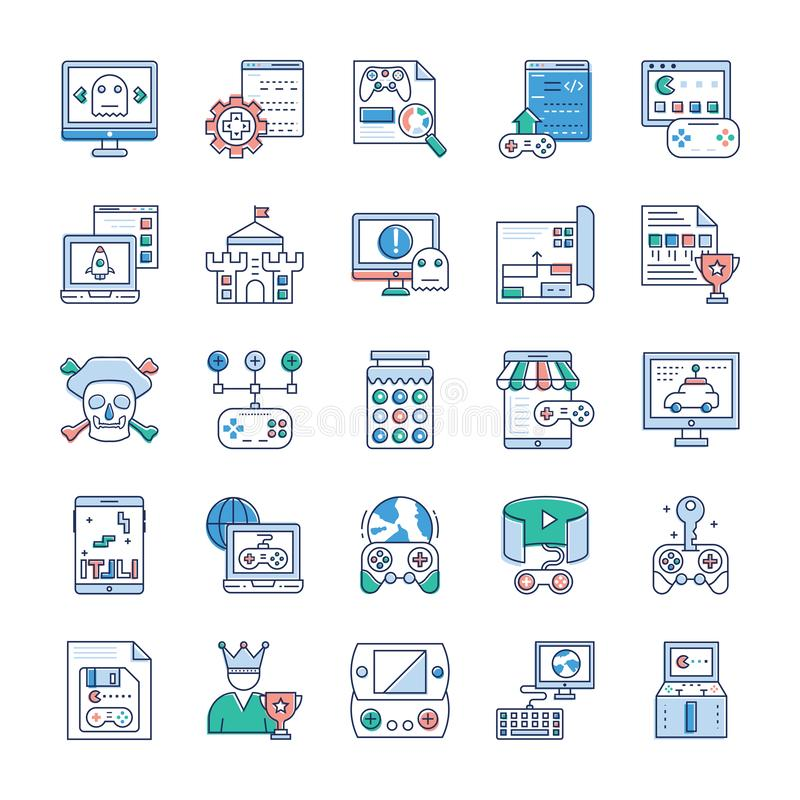 Video Game Icons Collection vector illustration