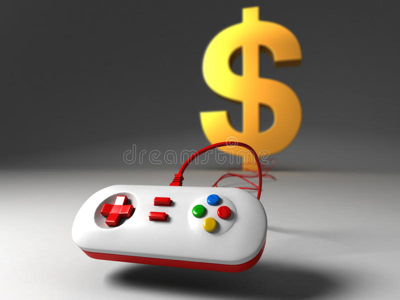Video game industry or U.S. dollar crisi vector illustration