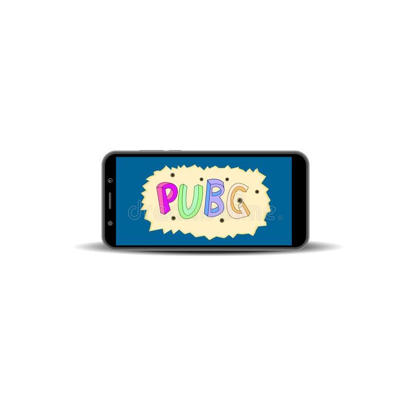 Pubg Gaming Logo Design Vector Illustration Stock Illustration