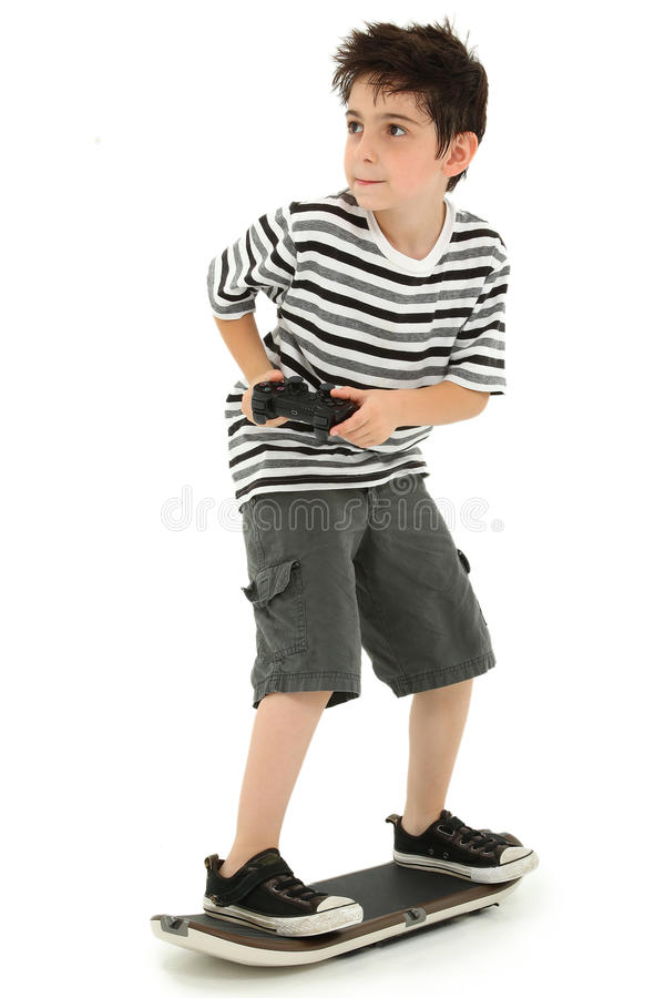 Video Game Skateboard Player Child stock photos