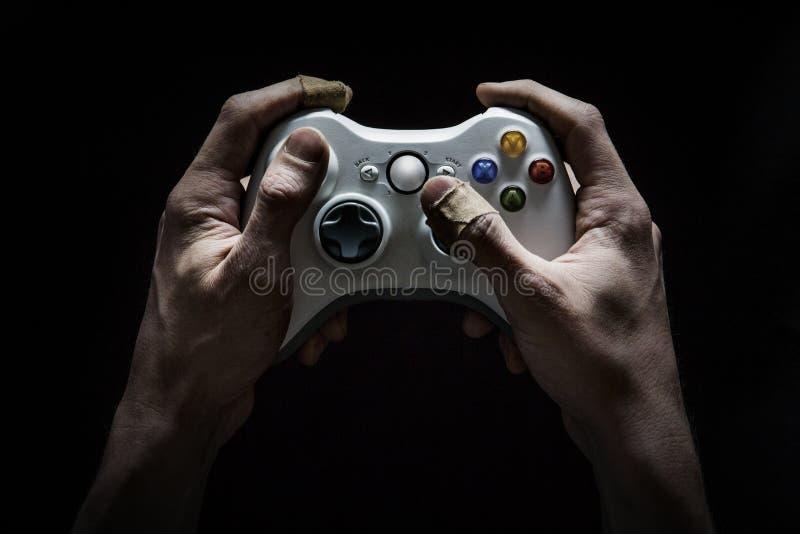 Video Gaming Addiction royalty free stock photo