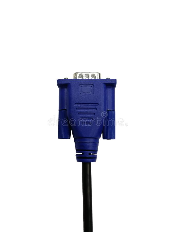 VGA connector isolated on white background with clipping path stock images