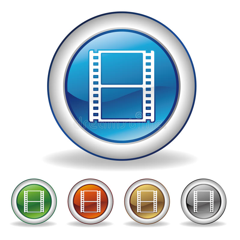 Video icon. On white background vector illustration