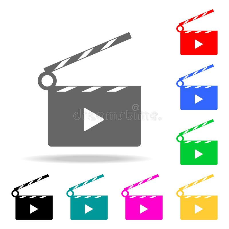 Video icon cinema sign. Elements in multi colored icons for mobile concept and web apps. Icons for website design and development,. App development on white royalty free illustration