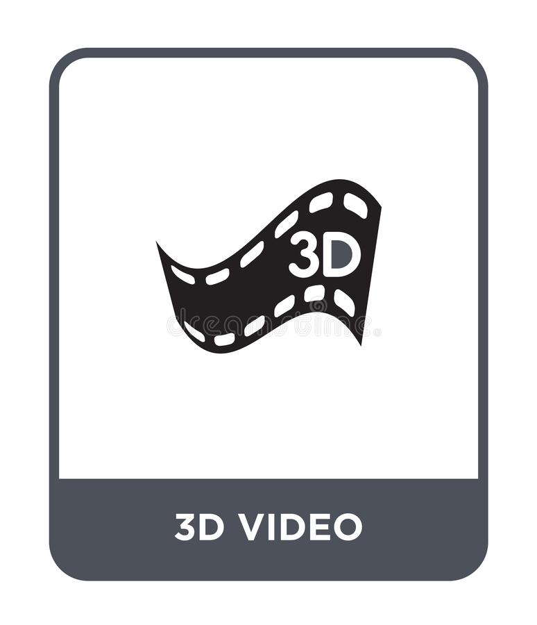 video icona 3d nello stile d'avanguardia di progettazione video icona 3d isolata su fondo bianco piano semplice e moderno della v royalty illustrazione gratis