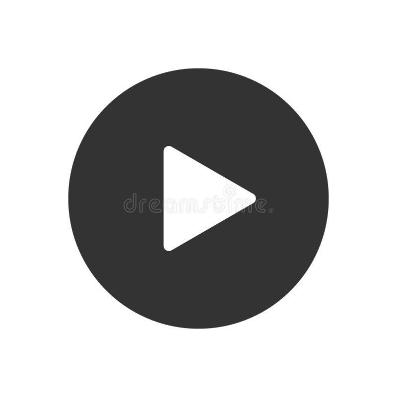 Video icona di vettore del bottone del gioco royalty illustrazione gratis