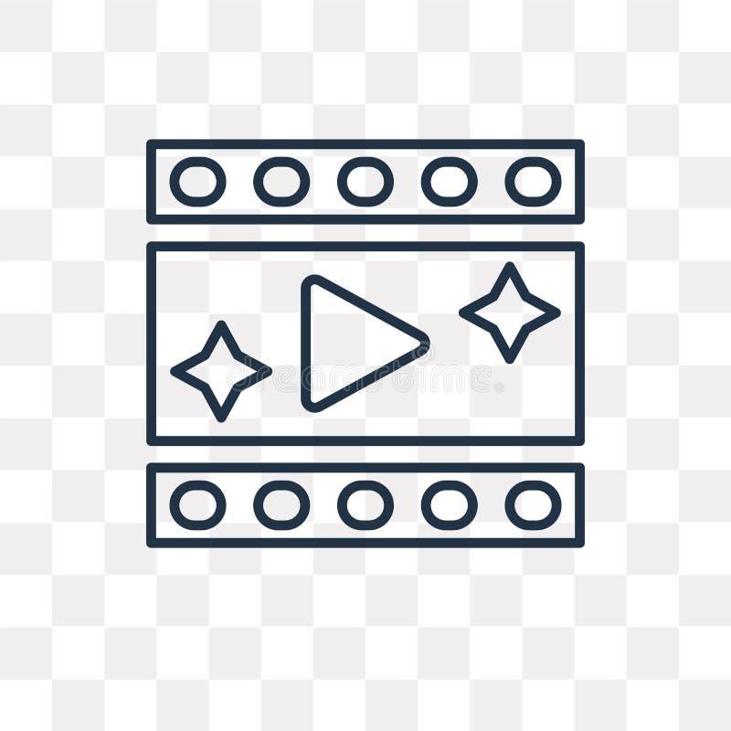 Video icona di vettore del gioco isolata su fondo trasparente, linea illustrazione vettoriale