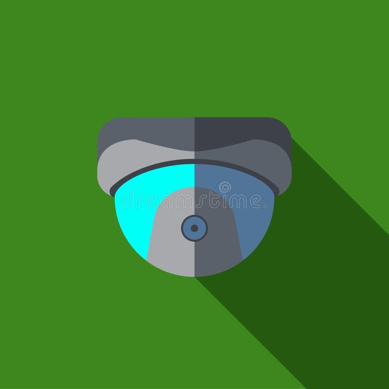 Video icona o illustrazione della videocamera di sicurezza nello stile piano illustrazione di stock