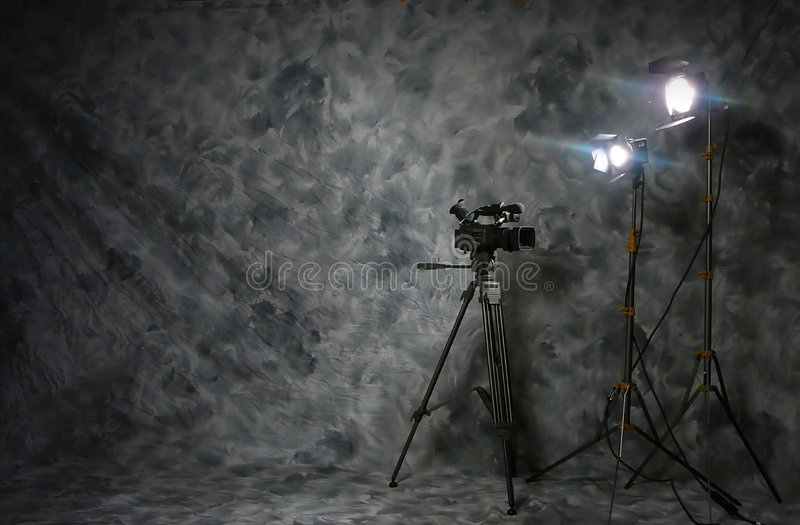 Video impostazione di produzione immagine stock