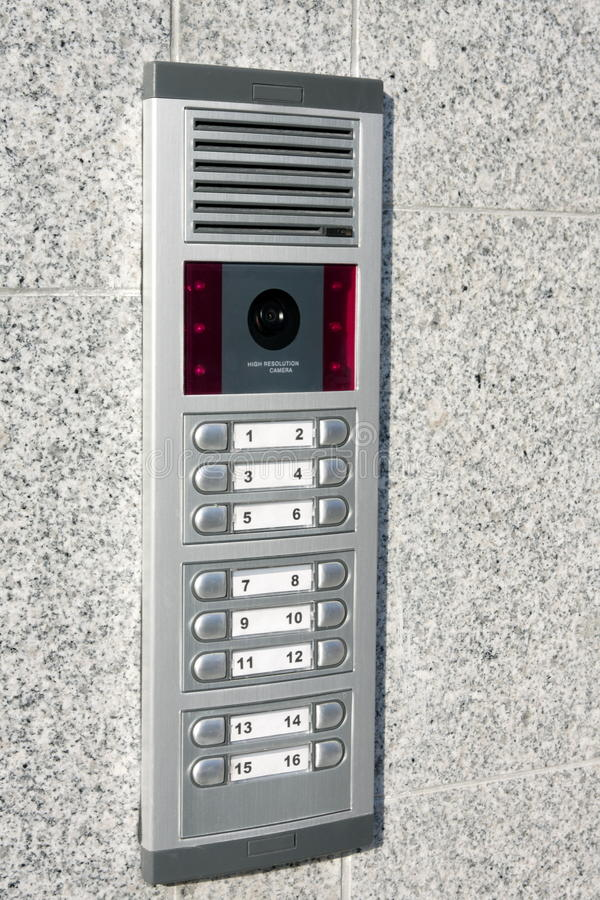 Download Video Intercom In The Entry Of A House Stock Image - Image: 15403063