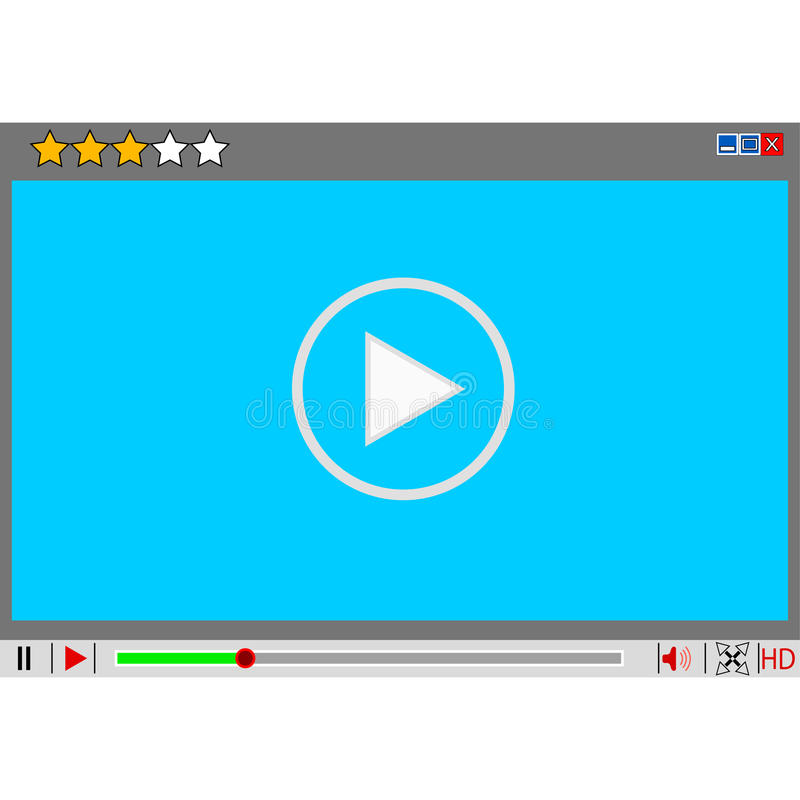 Video interfaccia del lettore multimediale di film. royalty illustrazione gratis