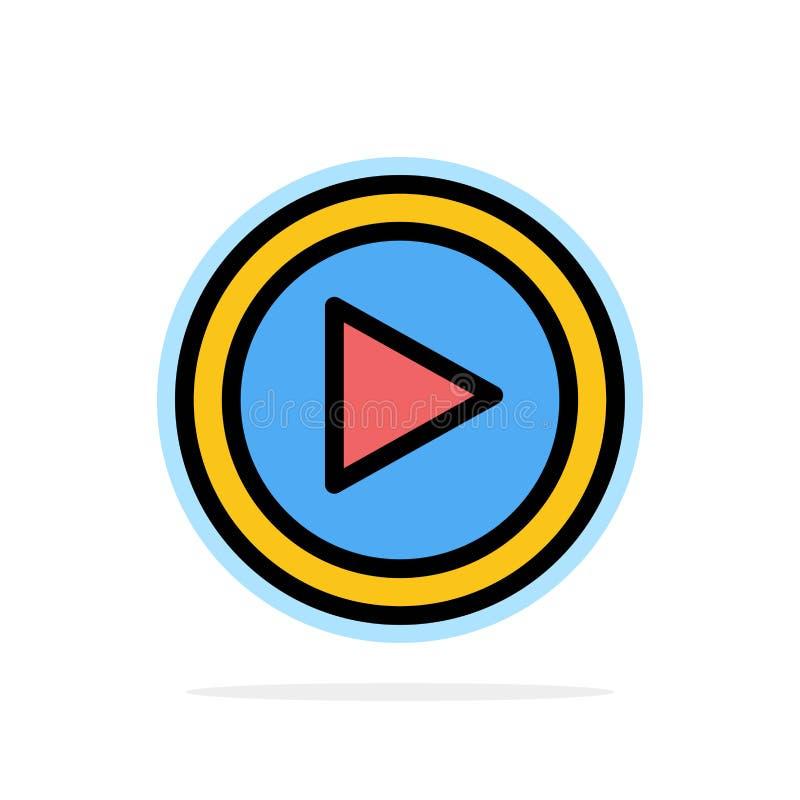 Video, Interface, Spel, van de Achtergrond gebruikers Abstract Cirkel Vlak kleurenpictogram vector illustratie
