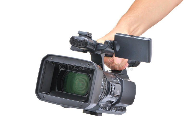 Video Kamera in einer Hand stockfotos