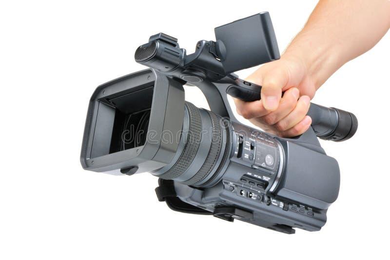 Video Kamera in einer Hand lizenzfreies stockfoto