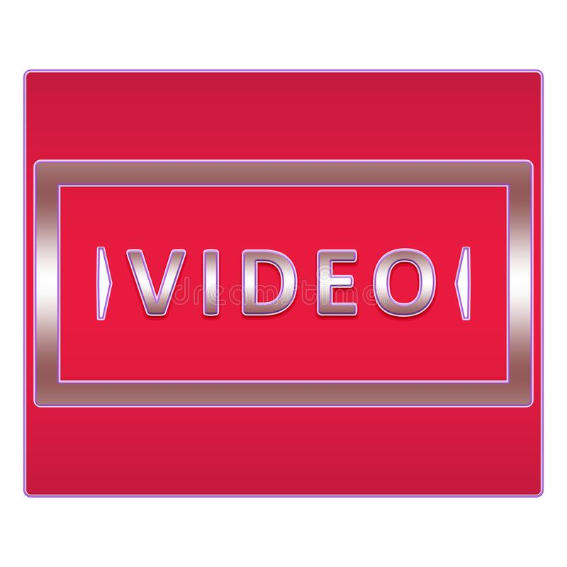 Video knapp stock illustrationer