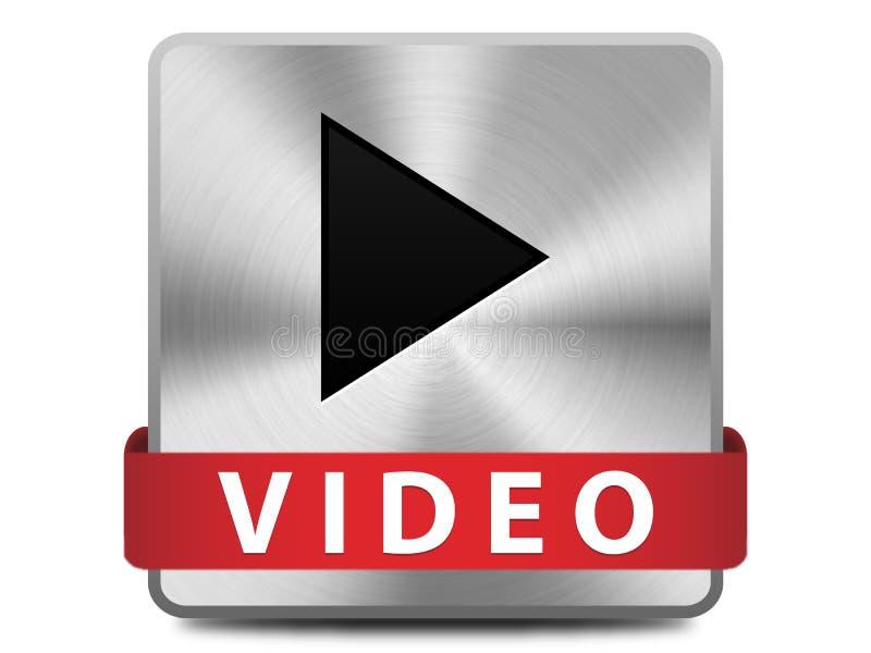 Video knapp vektor illustrationer