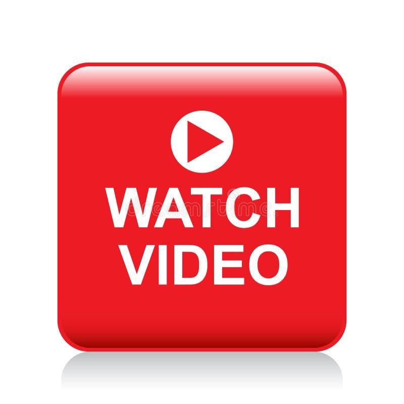 Video knapp för klocka stock illustrationer