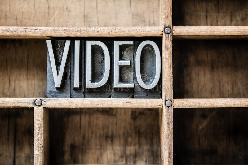 Video Letterpress Type in Drawer royalty free stock photos