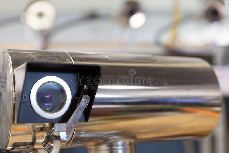 Video manifacture för bevakningkameror arkivfoto