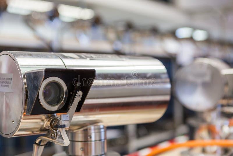 Video manifacture för bevakningkameror arkivbild