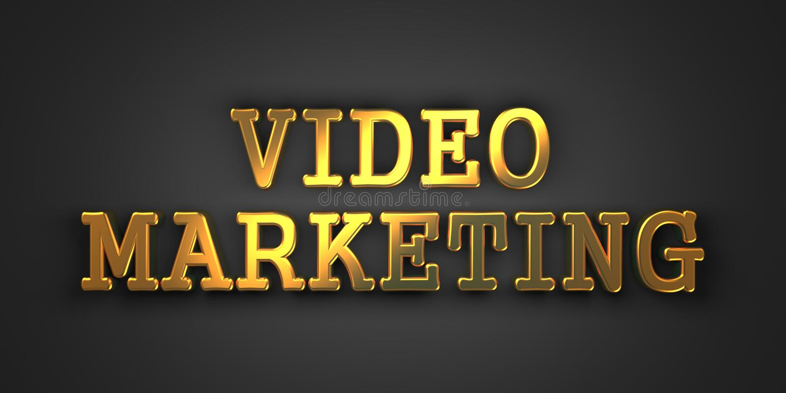 Video Marketing. Bedrijfsconcept. stock illustratie
