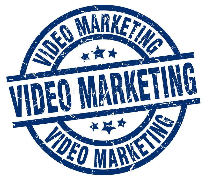 video marketing stamp royalty free illustration