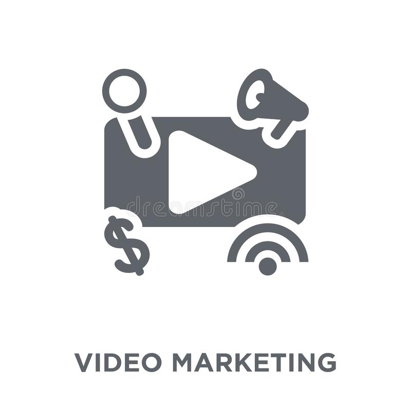 Video marketing icon from Marketing collection. vector illustration