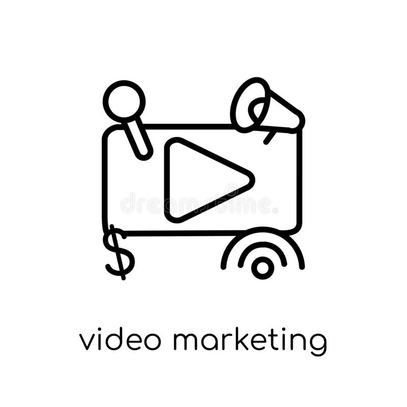 Video marketing icon from Marketing collection. royalty free illustration