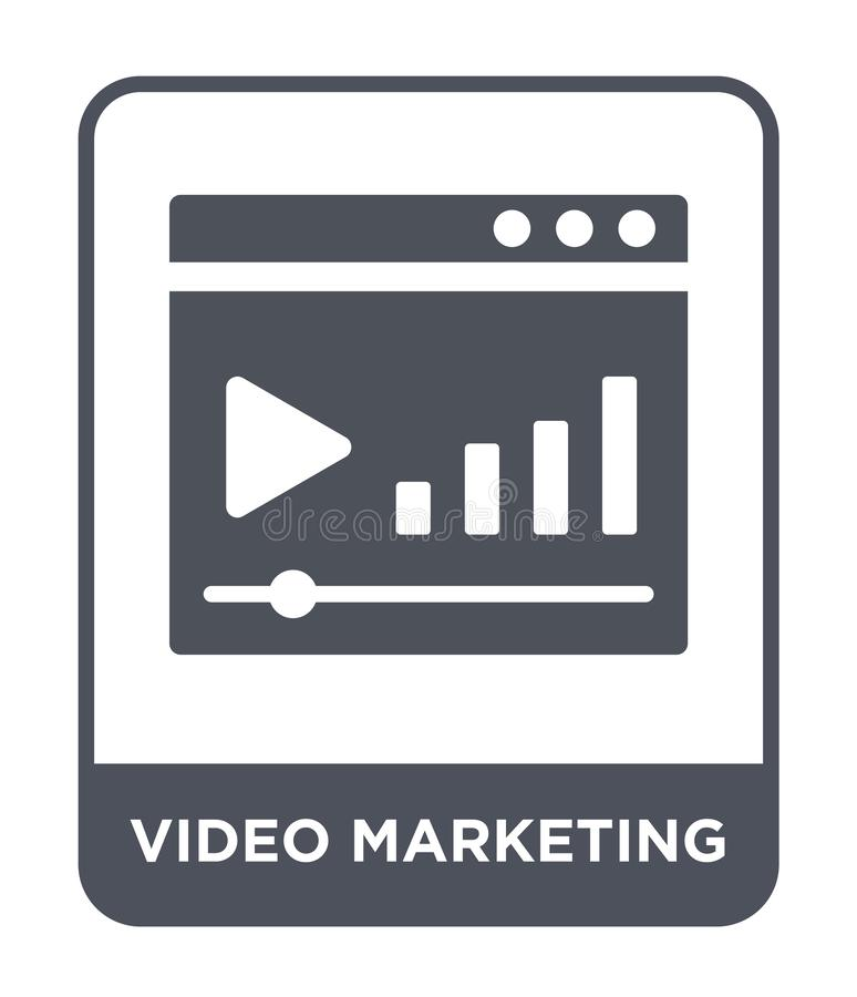 video marketing icon in trendy design style. video marketing icon isolated on white background. video marketing vector icon simple stock illustration